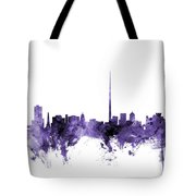 Dublin Ireland Skyline Tote Bag