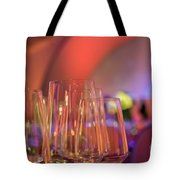 Party Setting With Colorful Bokeh Background Tote Bag