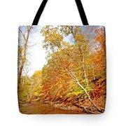 Pennsylvania Stream In Autumn Tote Bag