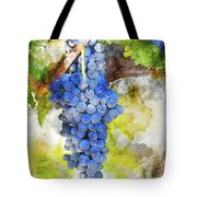 Red Grapes On The Vine Tote Bag