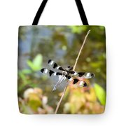 12 Spotted Skimmer Dragonfly 2 Tote Bag