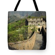 The Mutianyu Section Of The Great Wall Of China, Mutianyu Valley Tote Bag