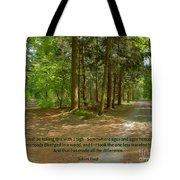 12- The Road Not Taken Tote Bag