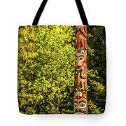 Totems Art And Carvings At Saxman Village In Ketchikan Alaska Tote Bag