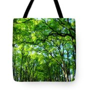 Nature Art Original Landscape Paintings Tote Bag