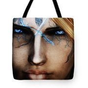 120941 The Elder Scrolls V Skyrim Wizard Blue Eyes Tote Bag