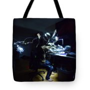 Light Painting Photography Tote Bag