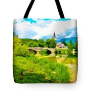 Nature Landscape Oil Painting For Sale Tote Bag