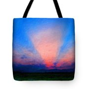 Painting Landscape Tote Bag