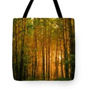 Nature Oil Canvas Landscape Tote Bag