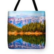 Painting Landscape Tote Bag