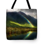 Acrylic Landscape Painting Tote Bag
