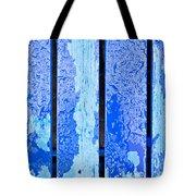 Blue Wood Tote Bag