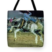 Bronco Riding Tote Bag