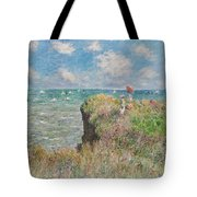 Cliff Walk At Pourville Tote Bag