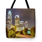 Downtown Of Charlotte  North Carolina Skyline Tote Bag