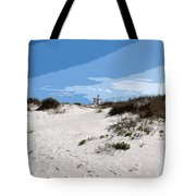 Jetty Park On Cape Canaveral In Florida Tote Bag