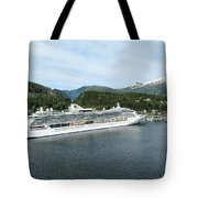 ketchikan alaska downtown of a northern USA town Tote Bag