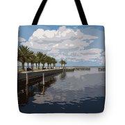 Lake Monroe At The Port Of Sanford Florida Tote Bag