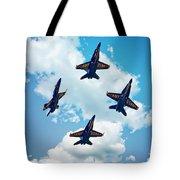 Navy Blue Angels Tote Bag