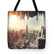 New York Midtown Skyline - Aerial View Tote Bag