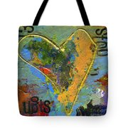 13 Of Hearts Stop Sign, Heartache Series. Tote Bag