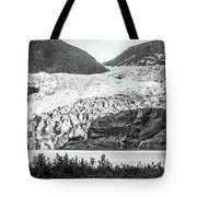 Panoramic View Of Mendenhall Glacier Juneau Alaska Tote Bag