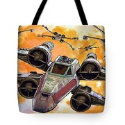 Trilogy Star Wars Poster Tote Bag