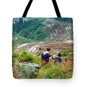 Longji Terraced Fields Scenery Tote Bag