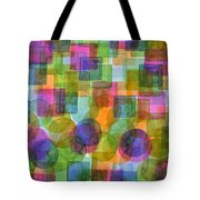 Befriended Squares And Bubbles Tote Bag