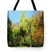 Nature Original Landscape Painting Tote Bag