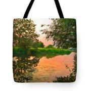 Landscape Painted Tote Bag