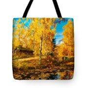 Oil Painting Landscape Pictures Nature Tote Bag