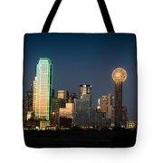 14-0905-141 Dallas Tx Skyline Tote Bag
