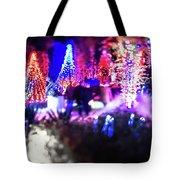 Christmas Light Bokeh At Daniel Stowe Gardens Belmont North Caro Tote Bag
