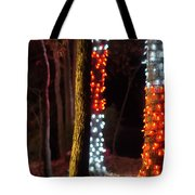 Christmas Season Decorations And Lights At Gardens Tote Bag