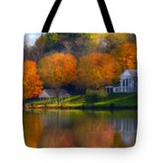Framed Landscape Art Tote Bag