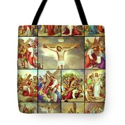 14 Stations Of The Cross Tote Bag
