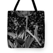 Tulips Wilting Tote Bag