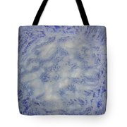 14. V1 Blue And White Splash Glaze Painting Tote Bag