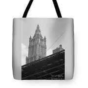 World Trade Center Under Construction 1967 Tote Bag