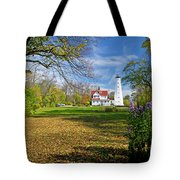 1406 North Point Lighthouse Tote Bag