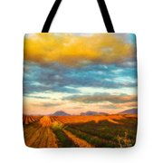 Landscape Drawing Nature Tote Bag