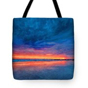 Landscape Nature Drawing Tote Bag