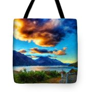 Nature Landscape Lighting Tote Bag
