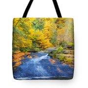 Nature Painted Landscape Tote Bag