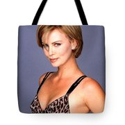 1491 Celebrity Charlize Theron  Tote Bag