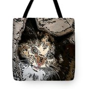 Abstract Cat Tote Bag