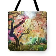 15 Abstract Japanese Maple Tree Tote Bag