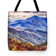 Autumn Season On Blue Ridge Parkway Tote Bag